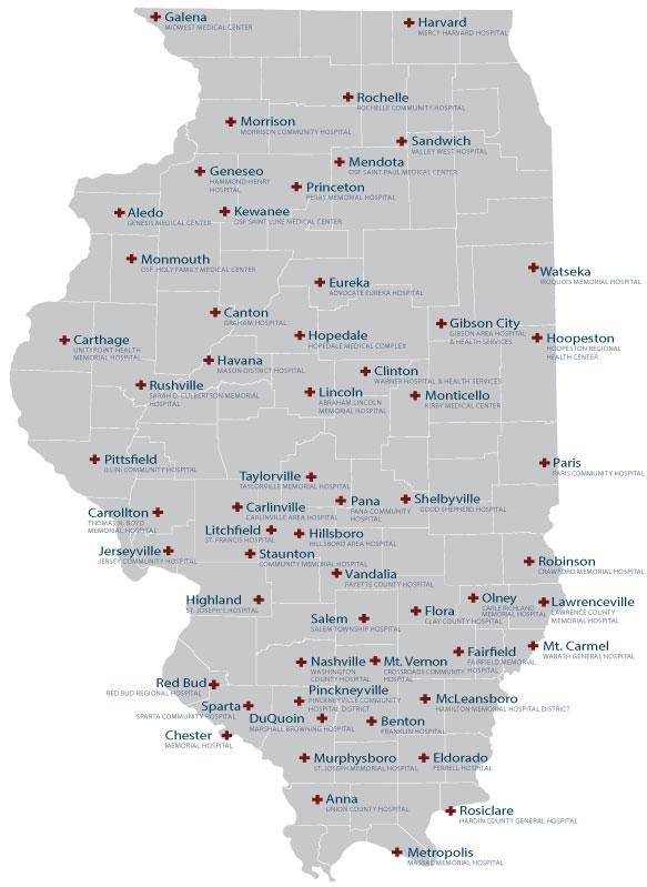 ICAHN Hospital Map
