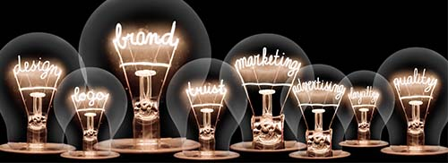 marketing light bulbs for homepage